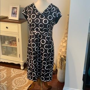 Merona Black and White Dress with Front Po…